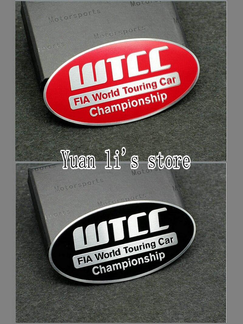 1X Автомобильная наклейка с эмблемой, значком Алюминий WTCC кузова автомобиля палка длинной 86*44 мм Автомобильный Стайлинг