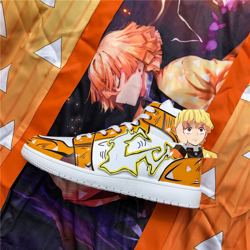 COOLVFATBO Anime Men shoes Casual Shoes Comic Sneakers Men Cosplay Print Patchwork Shoes Sports Scho