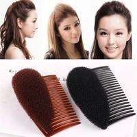 combs women fashion women hair combs ornaments hair bun maker braid diy tool hair accessories blackcoffee