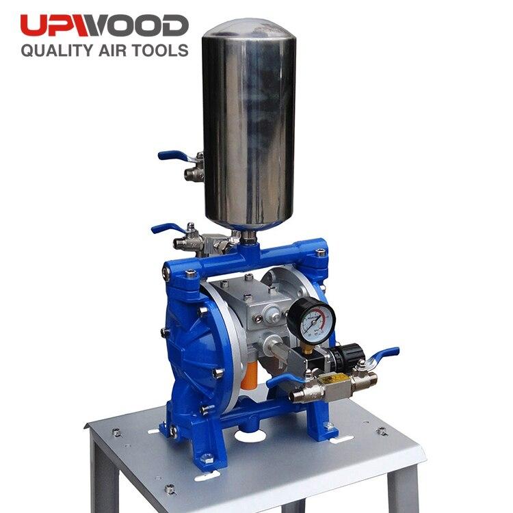 UW-P104 السائل حجم المدخلات 1/2 ''الهواء بالطاقة مزدوجة بتف مضخة الحجاب الحاجز ، دائم مضخة ذات رق هوائي للحبر ، الغراء ، الطلاء