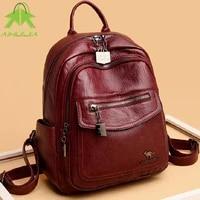 women high capacity backpack high quality pu leather travel school bags all match shoulder bags 2021 new fashion womens handbag