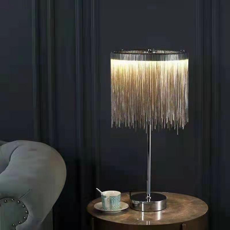 ما بعد الحداثة LED مصابيح طاولة شرابة الفاخرة دراسة غرفة المعيشة ديكور المنزل مكتب أضواء فندق غرفة نوم السرير تركيبات الإضاءة