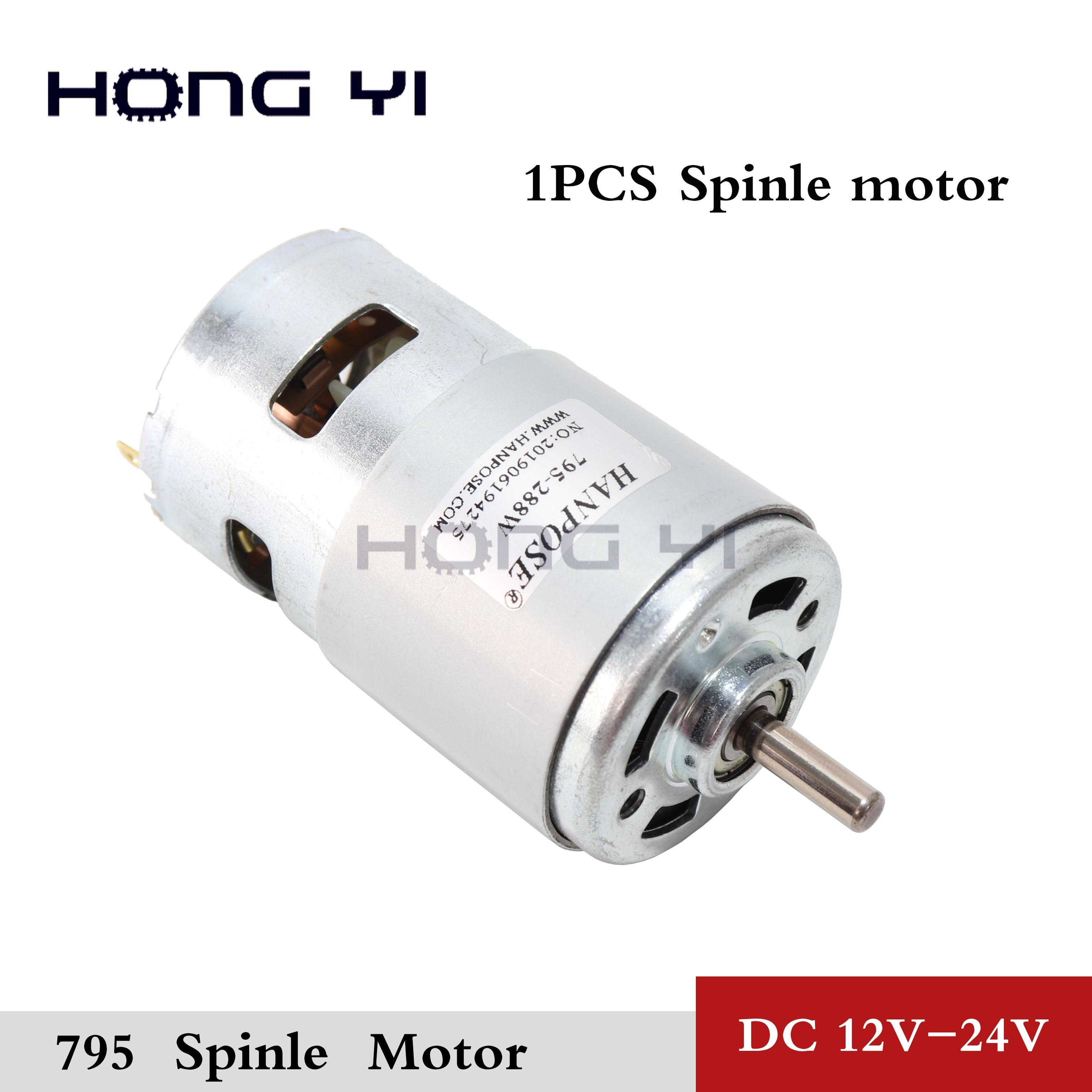 DC12-24 V Durable 795 180W Motor doble rodamiento de bolas gran par alta potencia bajo ruido gran oferta Motor de componentes electrónicos