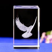 K9 Crystal 3D Laser inner engraving birds Peace dove Eagle Flamingo Tucano Woodpecker Eagle Songhak Pine Crane Phoenix