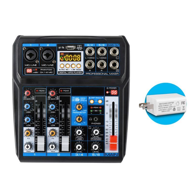 وحدة خلط الصوت مع 6 قنوات ، جهاز تسجيل USB ، بلوتوث ، DSP ، تأثيرات صوتية ، 203A