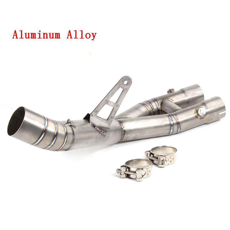 YZF R1 2015, tubo central de aleación de titanio y acero inoxidable 2016 para motocicleta, silenciador de escape de enlace medio para YAMAHA YZF-R1 2015