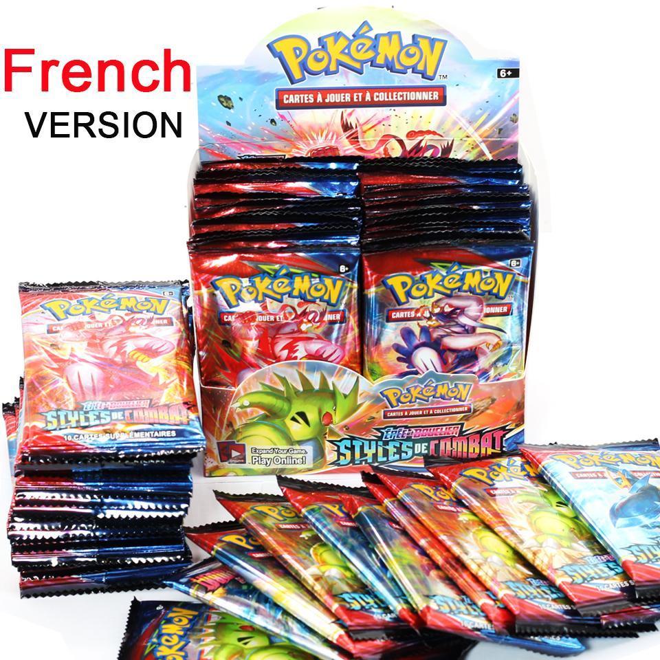 Cartes Pokemon françaises, épée et bouclier, Styles de bataille, boîte de détail entièrement scellée, carte pokémon du ciel en évolution, cadeaux pour enfants, 9 pièces