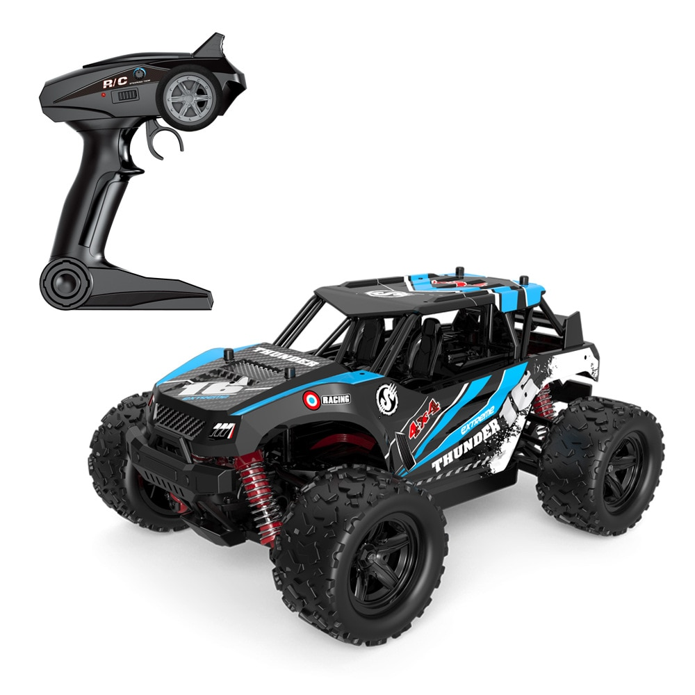 1 / 18 full scale cross terrain 4WD off road remote control vehicle 18311 competitive climbing big foot off road vehicle enlarge