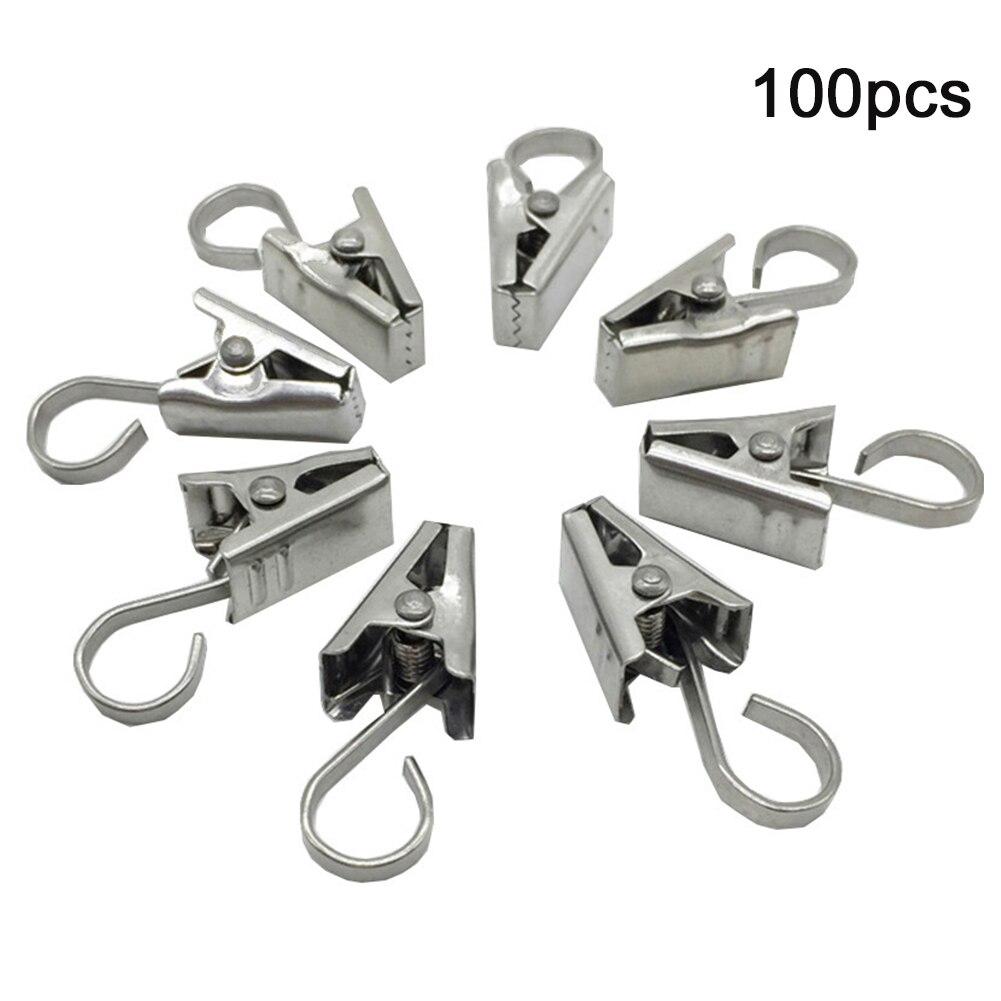 100 Uds RV percha decorativa de acero inoxidable multifunción arte artesanía Display cadena ganchos de luz fiesta fotos cortina con Clips