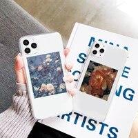art flowers beautiful fashion phone case transparent clear for iphone 11 12 mini pro xs max 7 8 6 6s plus x 5s se 2020 xr