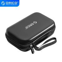 Внешний чехол ORICO для внешнего хранения жесткого диска, сумка для SSD жесткого диска 2,5, внешний аккумулятор с USB-кабелем, зарядное устройство, ...