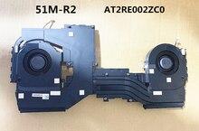 2020 Laptop CPU/GPU Cooling Radiator Heatsink&Fan for Dell M15 ALW15M AREA-51M 51M R2 0PTV77 BSM1012MD-02-03 0TW5Y8 AT2RE002ZC0