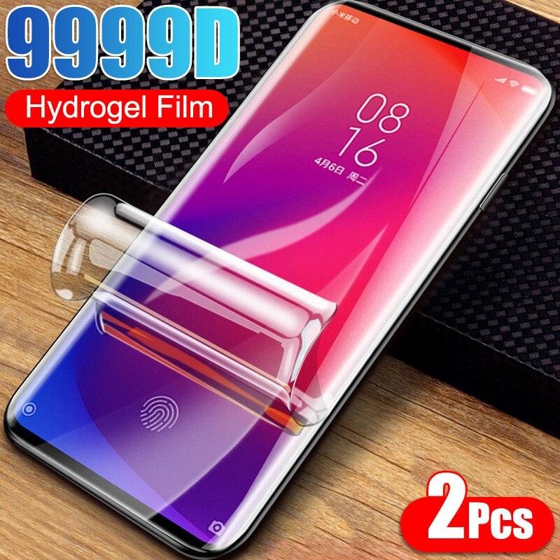 2 pçs filme de hidrogel para xiaomi redmi nota 9 8 7 5 6 9s pro protetor de tela máxima para redmi 8a 7a 9a 8t poco m3 x3 nfc não vidro