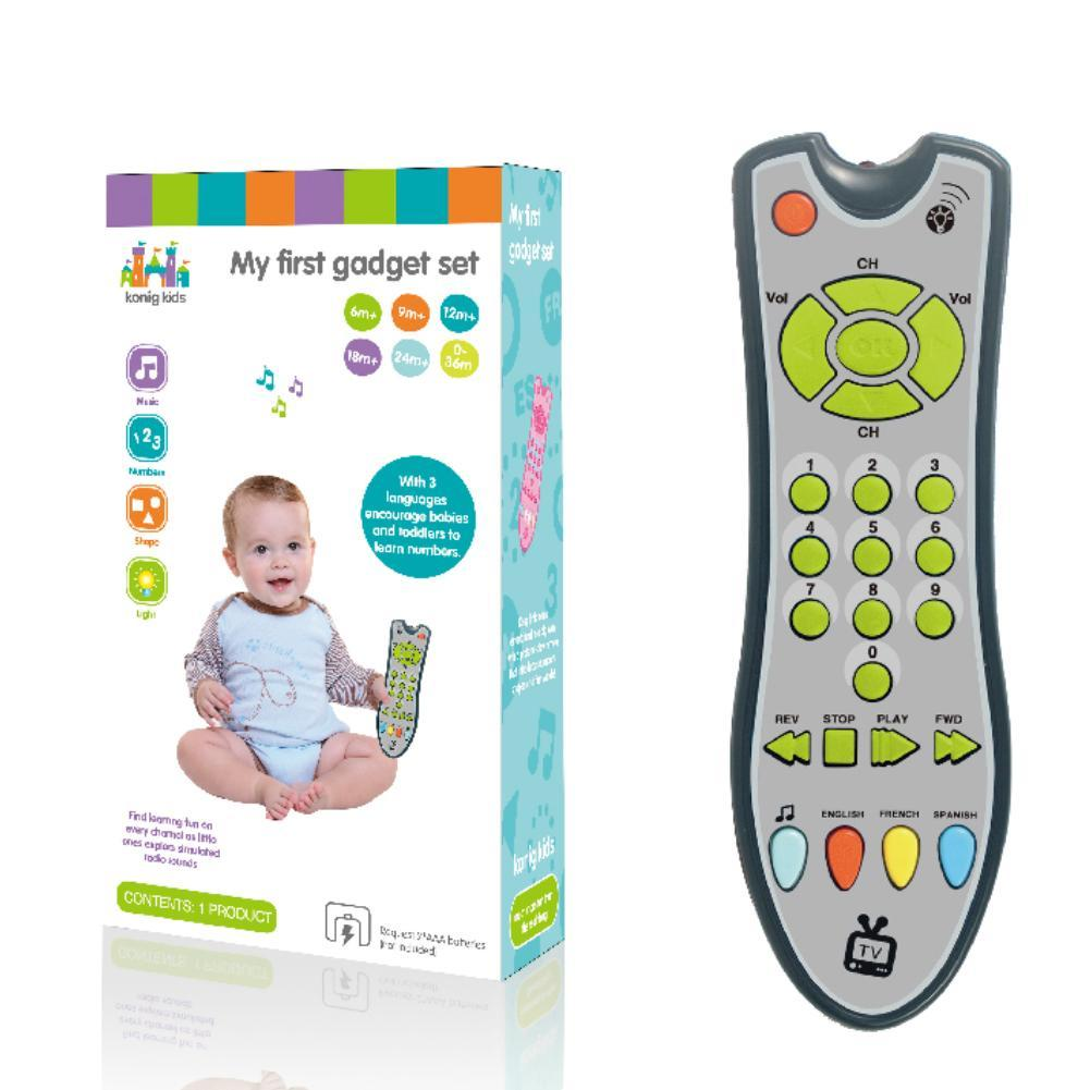 Musique Baby Simulation TV Remote Control Kids électriques apprentissage ?distance Educational Music English Learning Toy Gift