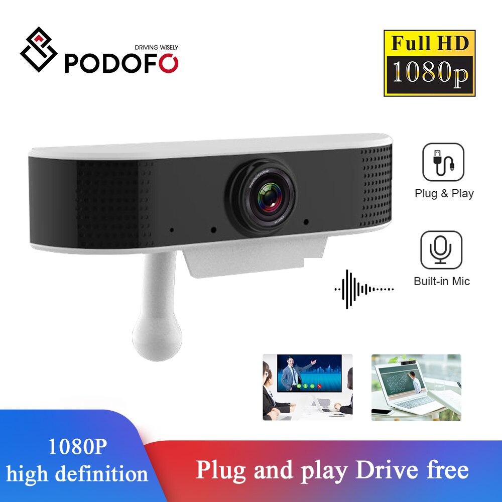 Podofo USB Streaming Webcam Full HD Webcam 1080p with Microphone Computer Camera Digital USB Video Recorder