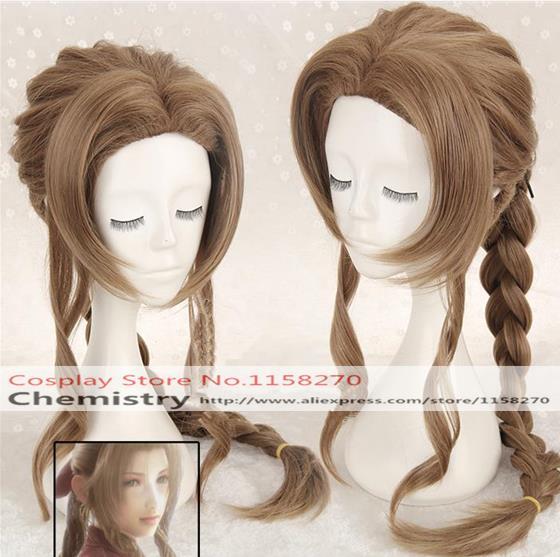 Final Fantasy VII Aeris FF7 Aerith Cosplay hairwear with cap