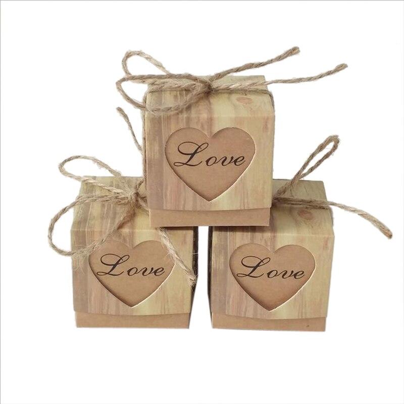 10 pçs/lote forma do coração presente caixas de doces doces festa de casamento favor chá de fraldas favores com fita decoração de festa 5*5*5cm