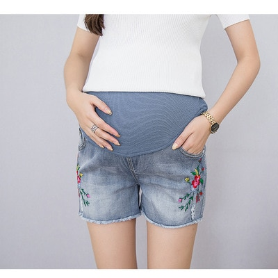 Loose Maternity Denim Short Low-waisted Premama Ripped Worn-out Jeans Pants Women Summer Wear Maternity Clothes Pregant Shorts enlarge