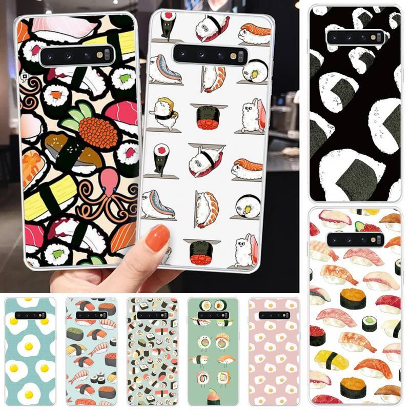 Jemy Delicious sushi Soft Silicone TPU Phone Cover For Samsung S5 6 7 8 9 10 S8 S9 S10 plus S10E lite S10-5G S20 UITRA plus