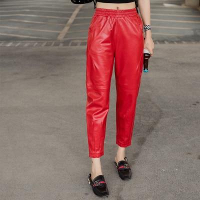 MESHARE New Fashion Genuine Sheep Leather Pants BP43