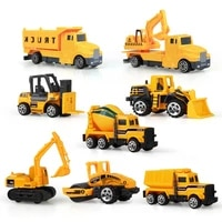4 styles mini alloy engineering car tractor toy dump truck classic model vehicle educational toys for boys children