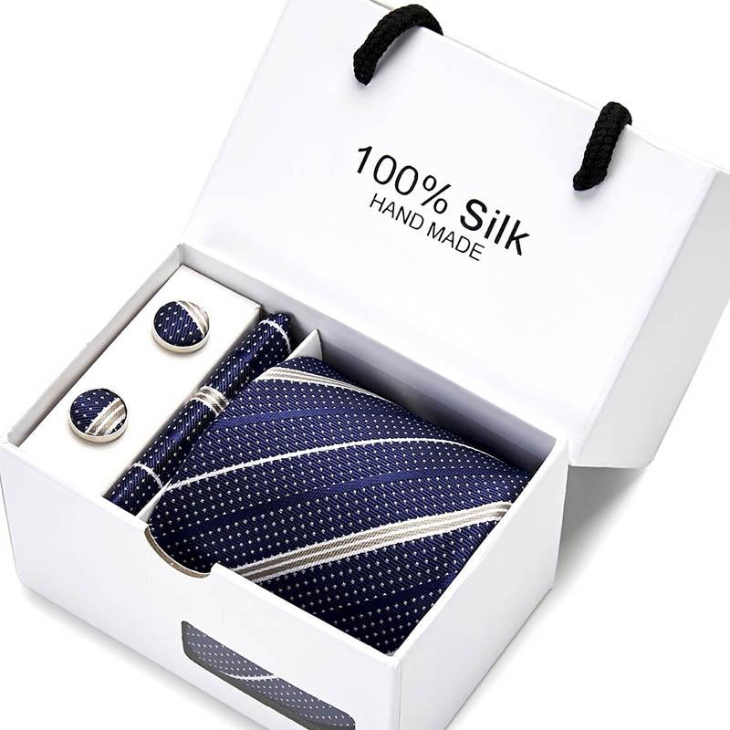 Gift For men New  men ties set Extra Long Size 145cm*8cm Plaid Necktie Silk Jacquard Woven Neck Tie Suit Wedding Party недорого