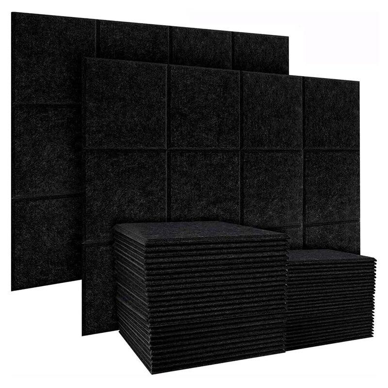 20 قطعة لوحة عزل الصوت ، الحشو عازلة للصوت والبلاط حافة مشطوف ، لتزيين الجدران ومعالجة عزل الصوت التجزئة