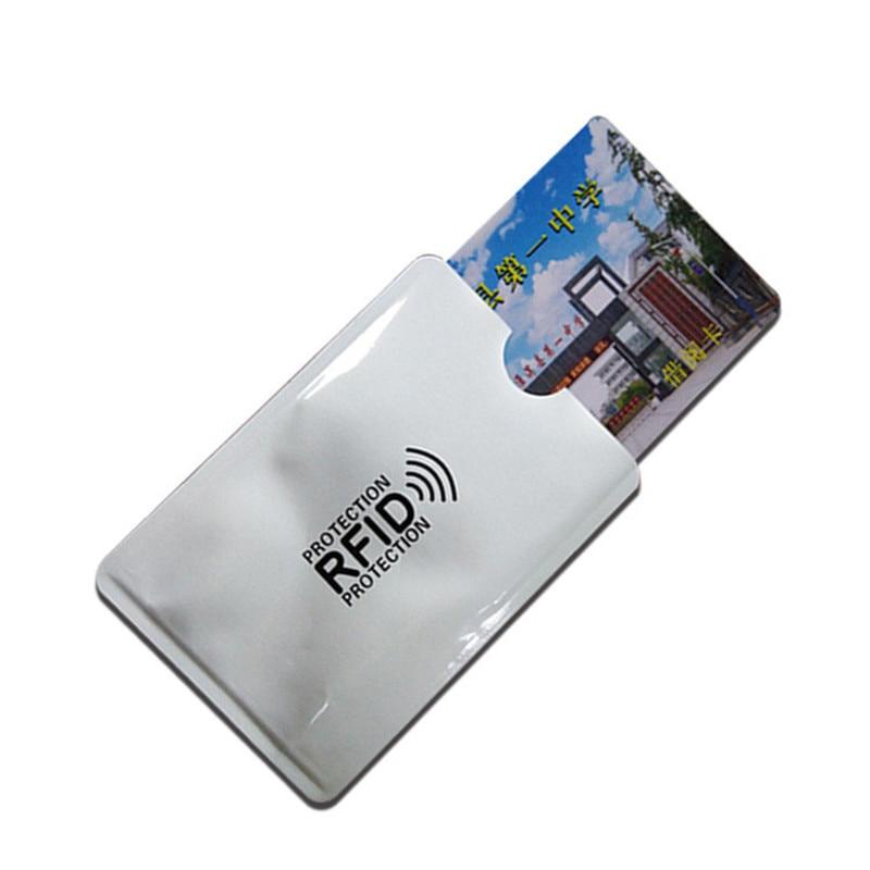 5x Anti Theft RFID Credit Card Protector Blocking Aluminum Foil Anti-NFC Reading Anti-theft Bank Card Holder Shielding Scan Lock недорого