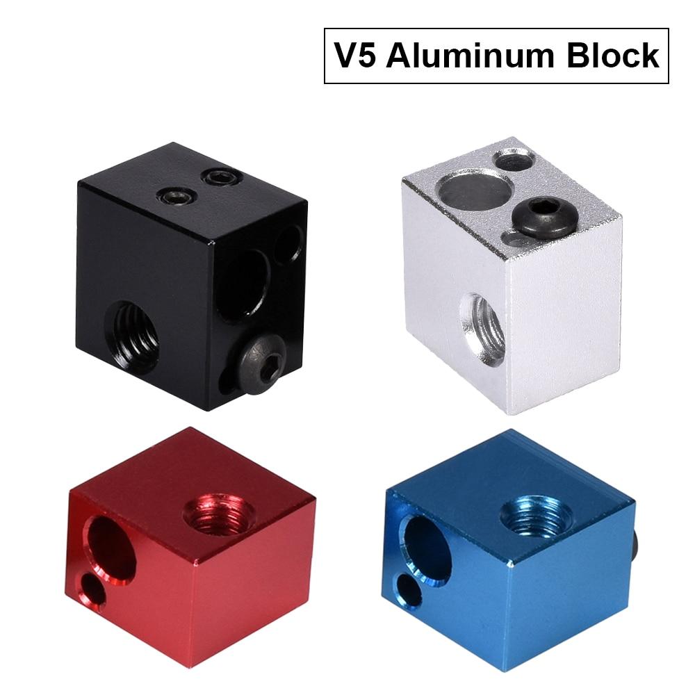Высокая температура V5 нагреватель Блок алюминиевый блок силиконовые носки 3D принтер части VS E3D V6 блок подходит j-головки Hotend Bowden экструдер