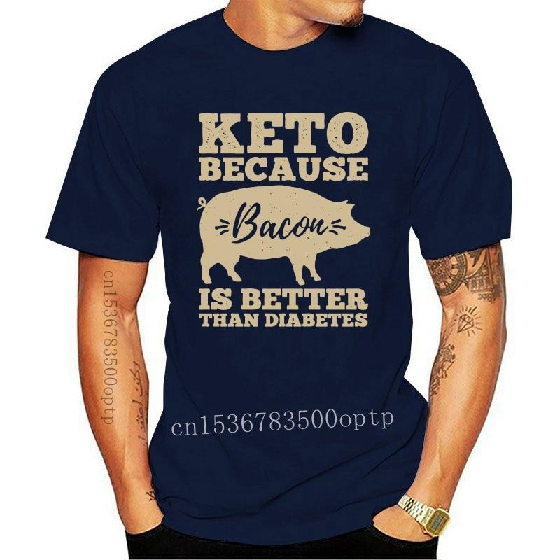 New 100% Cotton O-neck Custom Printed Tshirt Men T shirt Keto because Bacon is better than diabetes - Keto Women T-Shirt