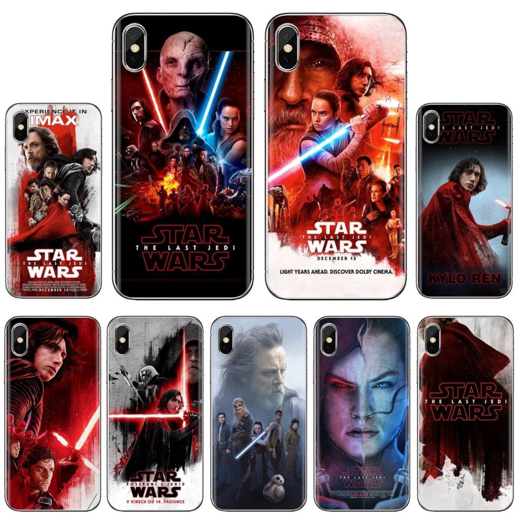 Para LG G2 G3 G4 Mini G5 G6 G7 Q6 Q7 Q8 Q9 V10 V20 V30 X Power 2 3 espíritu de Star Wars El último Jedi dulce caja del teléfono de silicona