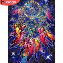 HUACAN diament malarstwo łapacz snów 5D dekoracje dla domu Diy haft mozaika Fantasy Cartoon Handmade prezent