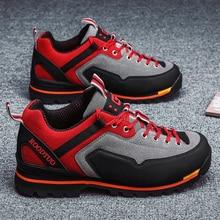 Men Outdoor Hiking Shoes Waterprof Trekkingshoes Men Mountain Climbing Shoe  Anti-Slippery Sneakers Trend Leather Sport Athletic