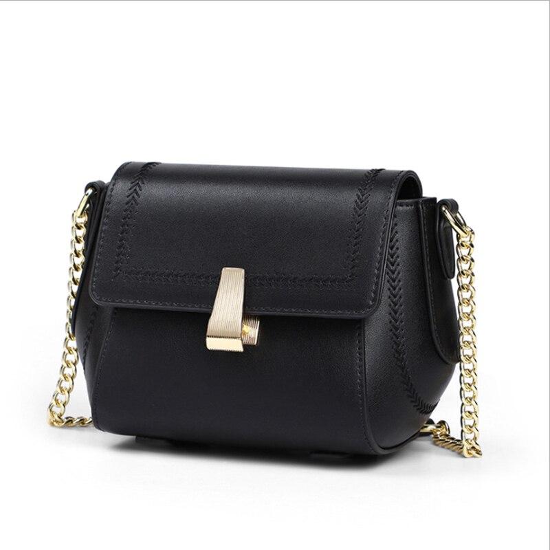 genuine leather handbags 2021 new trendy messenger bag female fashion star all-match chain bag single shoulder small square bag