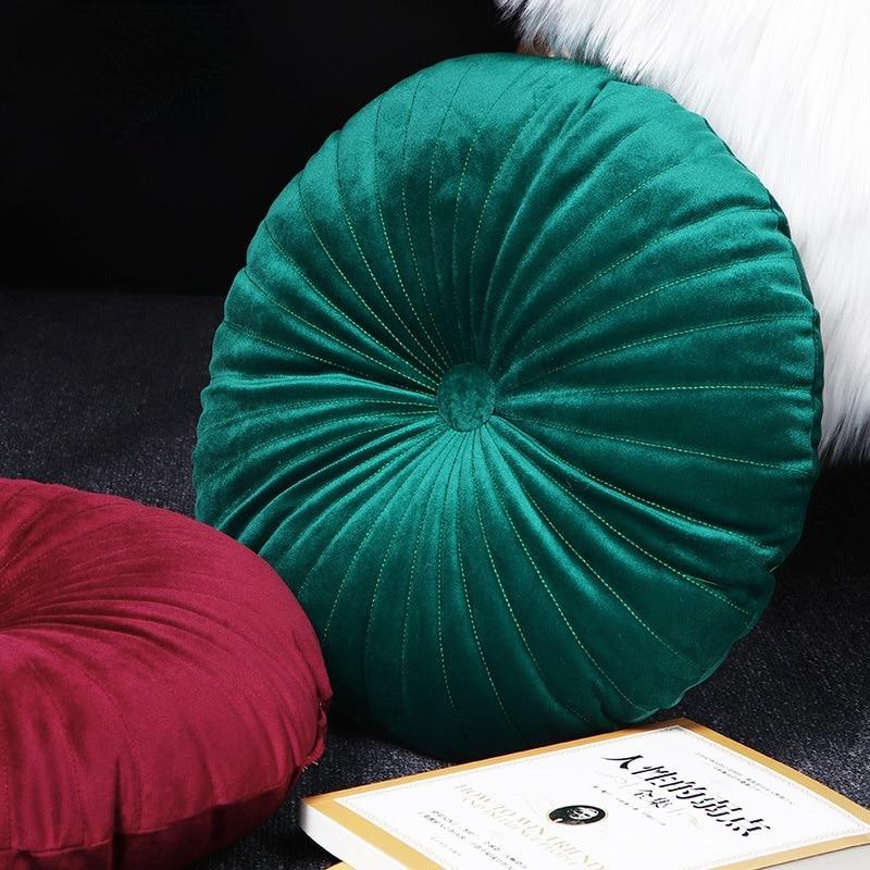 هولندا المخملية وسادة مقعد اليقطين مستديرة الخصر أريكة الظهر وسادة عجلة وسادة الأساسية المنسوجات المنزلية الديكور وسادة حصير