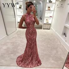 New Fashion Woman Long Evening Dress Sleeveless Elegant Floor Length Party Dresses Femme Vetisdos 20