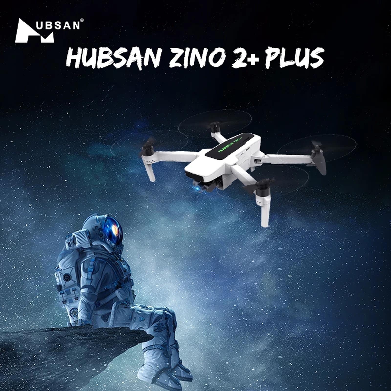 Hubsan Zino 2 + Plus طائرة بدون طيار نظام تحديد المواقع 9 كجم Hd 4k كاميرا 3 محاور Gimbal كوادكوبتر مع أكياس هوائية بدون طيار 3800mAh 17.2 فولت بطارية ليبو # Y10