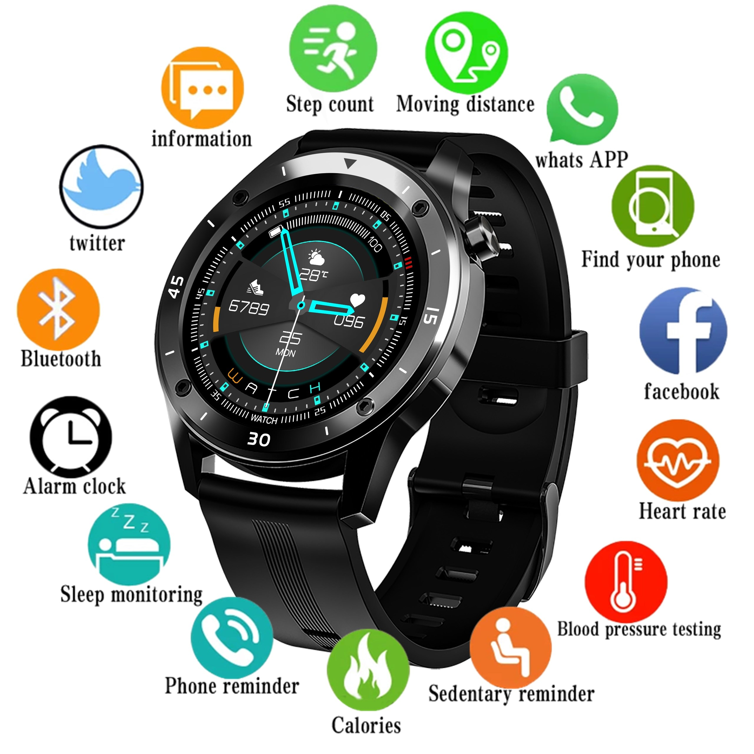 F22s Sport Smart Watches for Man Woman 2020 Intelligent Smartwatch Fitness GPS Tracker Bracelet Blood Pressure for Android Ios