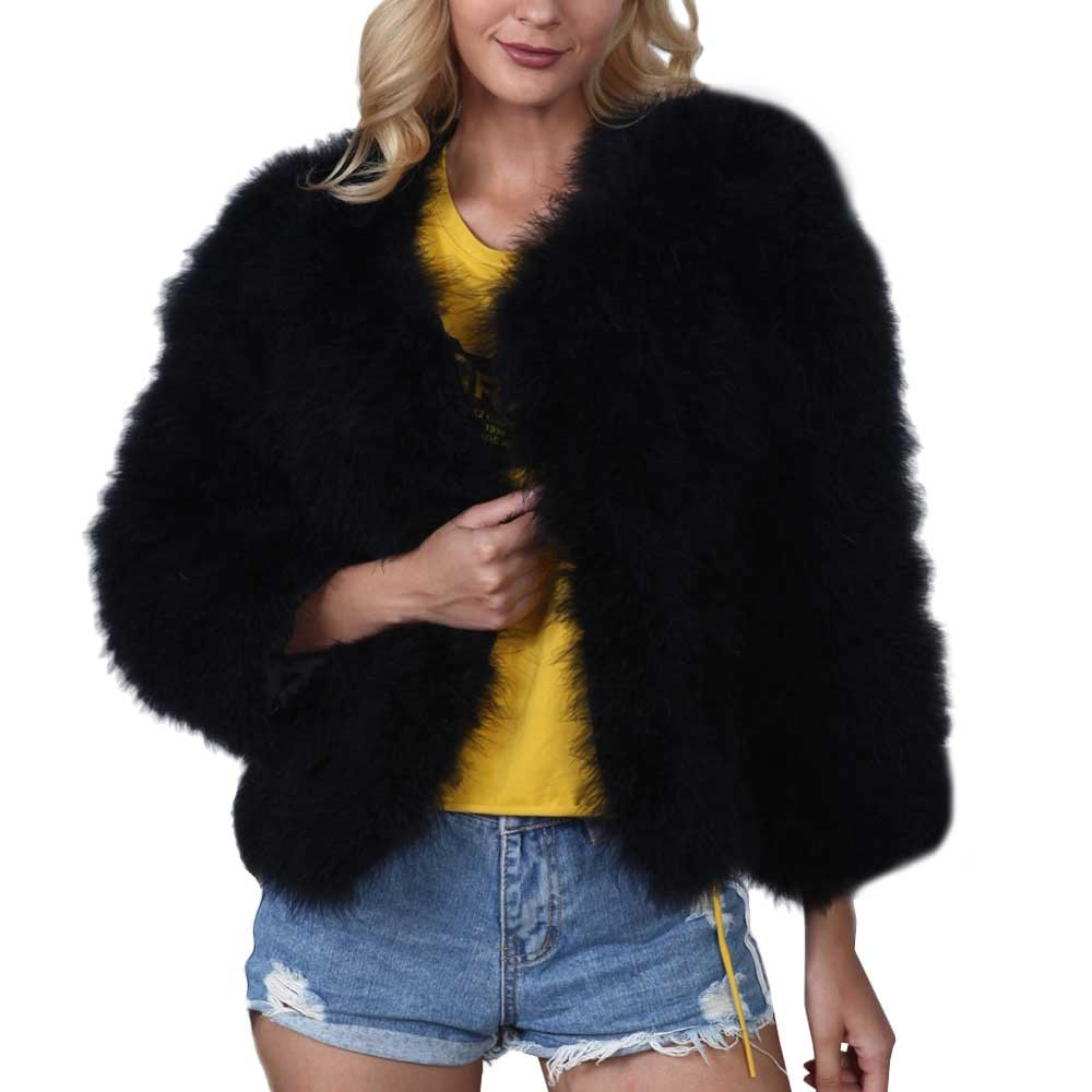 Fur Natural Color Faux Fur V-neck Wide-waist Covered Button Full Fur Floating Hair Jacket Fur Vest Jacket фото