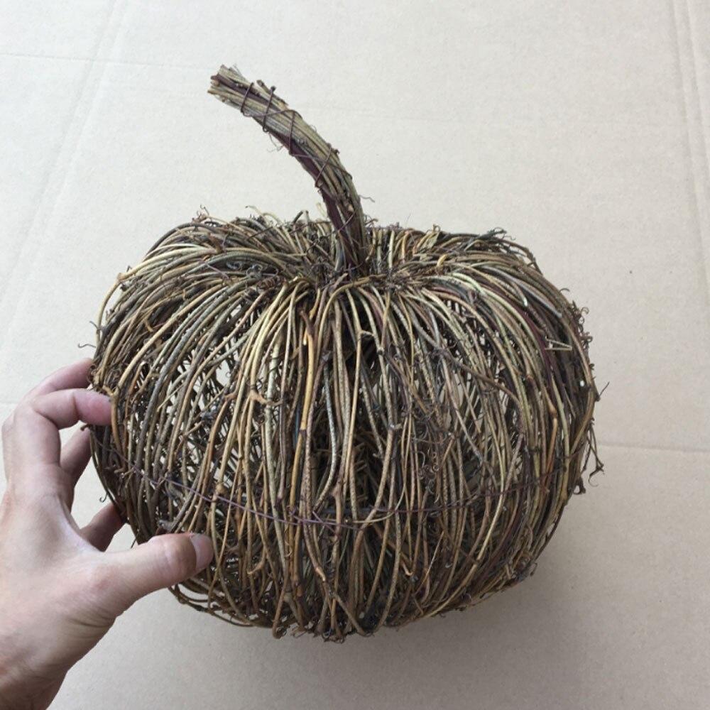 Natural secado rattan abóboras artesanal abóbora queda diy retro outono casa acentos colheita festival festa decorações grinalda