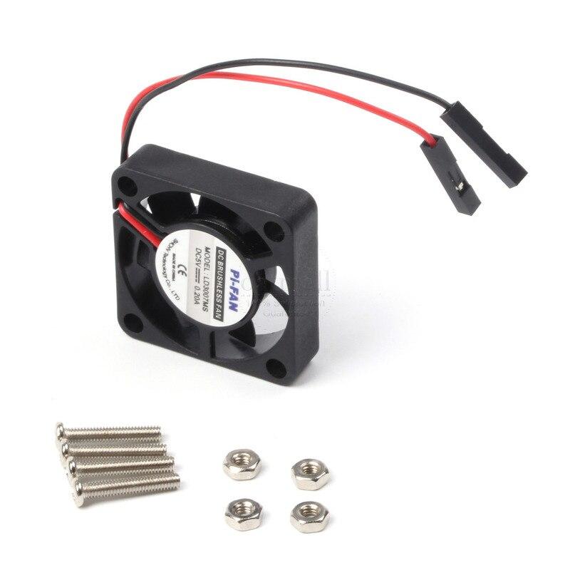 Ventilador de framboesa pi ajustável 3.3v/5v para raspberry pi 3 modelo b + plus/3/2/b + conectores separados ventilador de refrigeração sem escova