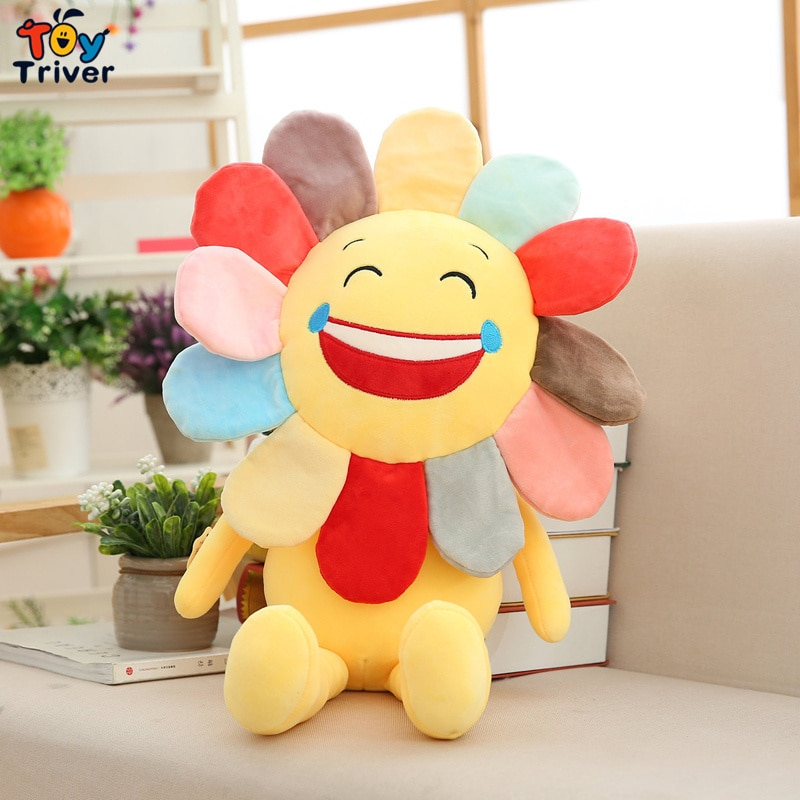 Smile Sun Flower, girasol, peluche, muñeco de peluche, cojín, hogar, dormitorio, tienda de coches, restaurante, decoración, regalo de cumpleaños para niña