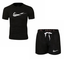 2021 new men's brand sportswear Shorts Set short sleeve breathable T-shirt and shorts casual wear me