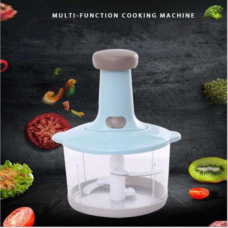 Molinillo de verduras Manual, tipo prensa, cortador de carne de ajo para el hogar, batidor de huevos, agitador, cocina, procesador multifunción de alimentos