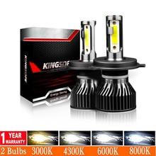 2 pièces H7 LED H4 Turbo Phare De Voiture Mini Ampoule Lampada H1 H11 9005 HB3 9006 HB4 Lampe Automatique 4500K 6000K 8000K 12V LED Antibrouillard