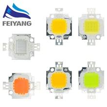 50PCS 10W weiß/warm weiß/Rot/grün/blau/gelb Led chip 10w lampe perlen 10W led Integrierte High power 10w led 12V 900MA