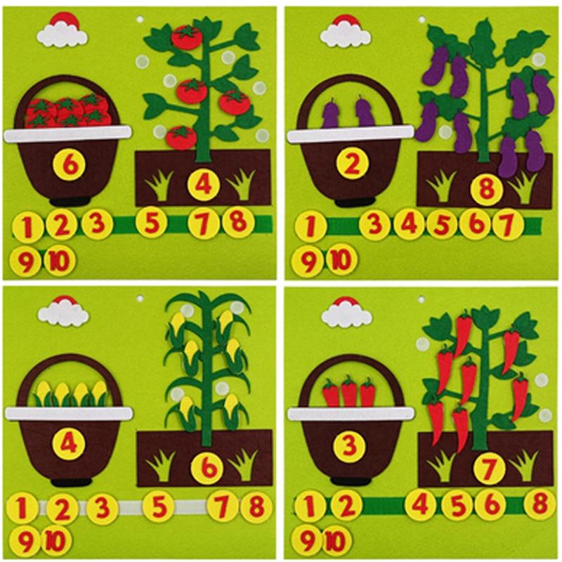Обучающие ресурсы для детей, овощи и фрукты, яблоки, математические цифры Монтессори, обучающие игрушки для малышей, детская игра обучающие карточки овощи и фрукты