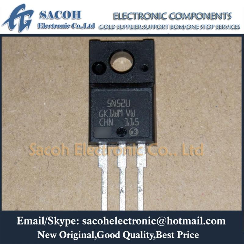 New Original 10PCS/Lot STF5N52U 5N52U 5N52 or STI5N52U or STD5N52U or STF5N52K3 STF5N62K3 STF5N60M2 TO-220F 5A 525V Power MOSFET