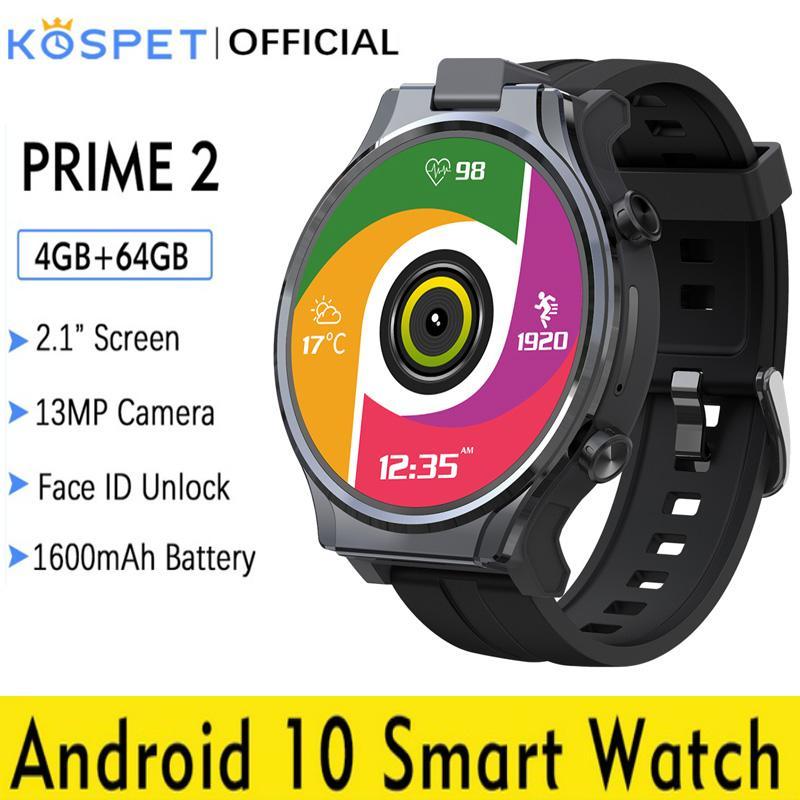 4 + 64gb Relógio Inteligente Câmera 1600mah 2.1 Android 10 Telefone Wifi Gps Smartver 13 mp Girando 4g 13mp