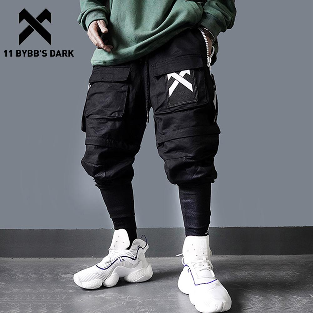 11 BYBB'S الظلام انفصال متعدد جيب السراويل البضائع الرجال Harajuku الهيب هوب الشارع الشهير الركض رجل مرونة الخصر Sweatpants Techwear